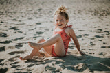 Little Fashion Addict - Sproet & Sprout - Zomercollectie 2021 - Badpak Cherry in Cherry Red - Sfeerfoto