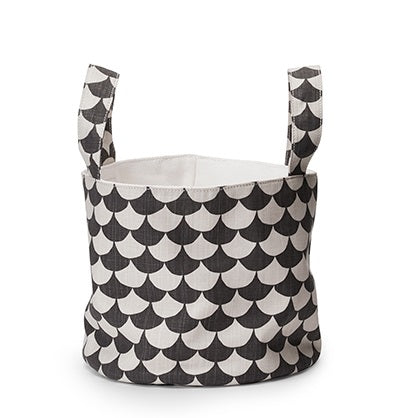 OPBERGMAND Soft Basket Small- Waves black - littlefashionaddict.com