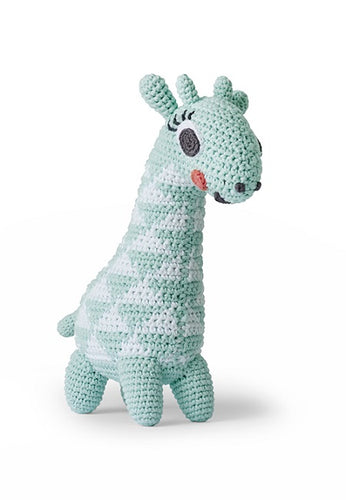 LITTLEPHANT melody soft toy GIRAFFE AQUA