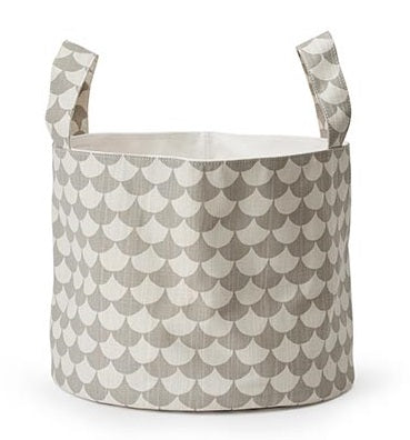 LITTLEPHANT soft basket medium WAVES GREY/GREY