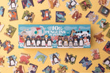 Little Fashion Addict - Londji - set van 10 puzzels - 10 pinguïns - Littlefashionaddict.com