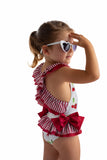 Little Fashion Addict - Meia Pata - Badpakmodel Formentera met kersenprint