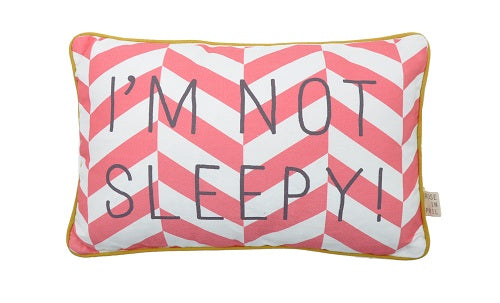 MESSAGE PILLOW - kussen I'M NOT SLEEPY - littlefashionaddict.com