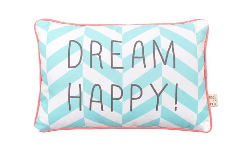 MESSAGE PILLOW - kussen DREAM HAPPY! - littlefashionaddict.com