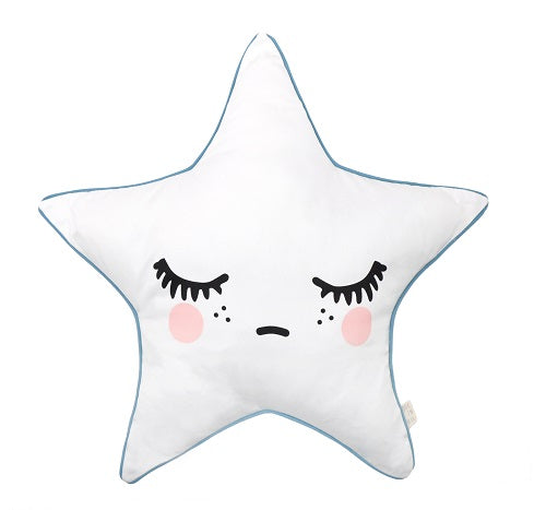 Sleepy Dolly Star kussen - Roze wangen - littlefashionaddict.com