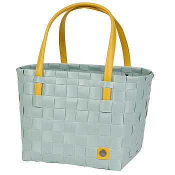Gerecycleerde Color Block Shopper - Greyish Green - littlefashionaddict.com