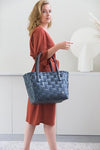 Gerecycleerde Color Match Shopper - Dark Grey - littlefashionaddict.com