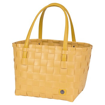 Gerecycleerde Color Match Shopper - Mustard - littlefashionaddict.com