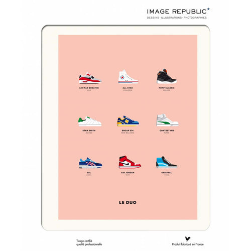 Poster - le duo sneakers - littlefashionaddict.com