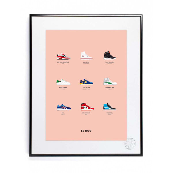 Poster - le duo sneakers