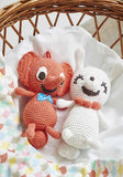 MELODY Hand-gehaakte knuffel LITLEPHANT RED- 'Pull my tale and I play' - littlefashionaddict.com
