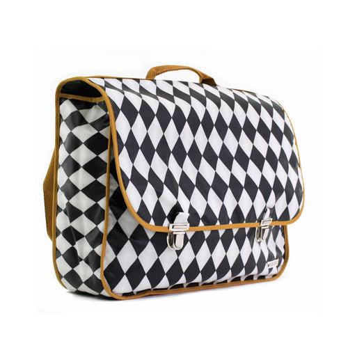 Kleine schooltas Archimedes - black diamonds - littlefashionaddict.com
