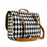 Kleine schooltas Archimedes - black diamonds