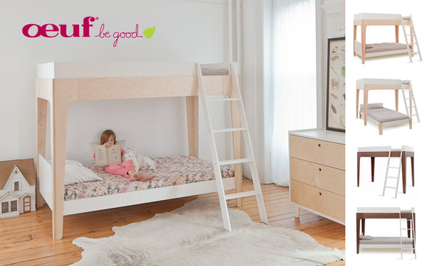 PERCH Stapelbed - wit/berkenhout - littlefashionaddict.com