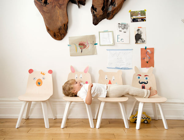 BERENSTOELEN set van 2 - walnoot - littlefashionaddict.com