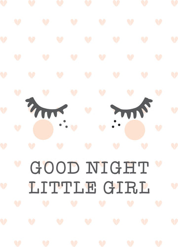 Poster - good night little girl - littlefashionaddict.com
