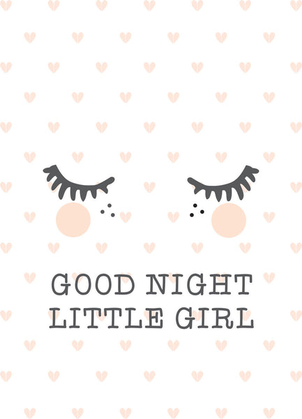 Poster - good night little girl