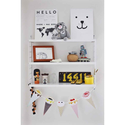 Poster - face bear - littlefashionaddict.com