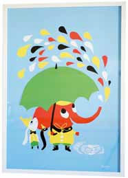 poster graphic print rain littlephant