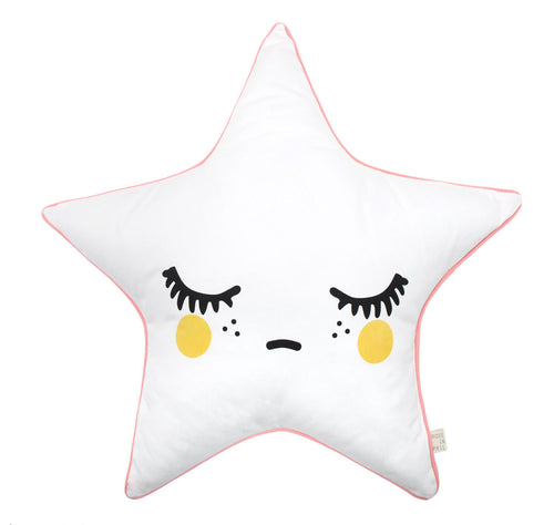 Sleepy Dolly Star kussen - Gele wangen - littlefashionaddict.com