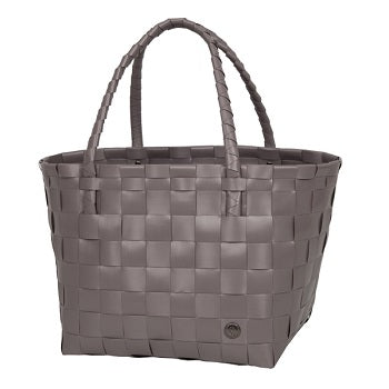 Gerecycleerde Paris Shopper - Stone Brown - littlefashionaddict.com