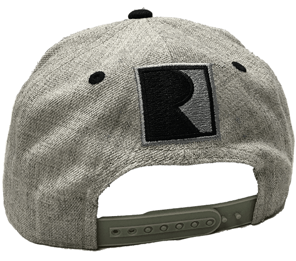 Grey Wool Flat Bill Cap
