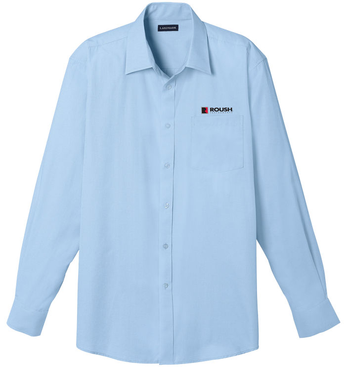 Roush Blue Long Sleeve Button-down Collar Shirt
