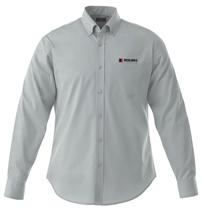Roush Grey Long Sleeve Button-down Collar Shirt