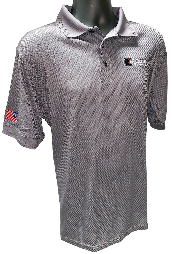 Roush Performance Charcoal Basket Weave Polo