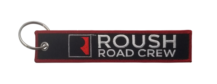 Roush Road Crew Embroidered Key Tag