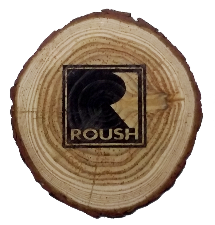 ROUSH Natural Wooden Coasters