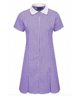 Avon Zip Front  Summer Dress - Purple