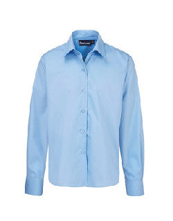 Boys Long Sleeve Blue Shirt (Twin Pack)