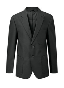 Boys Black Long Fit Viscount Blazer