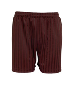 Shadow Stripe Shorts Maroon