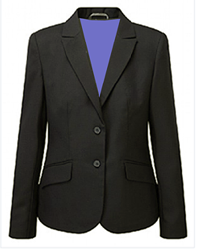 Girls Black ELITE Fitted Blazer