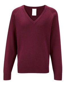 Maroon V Neck Jumper