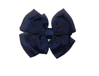 Navy Bow on Clip