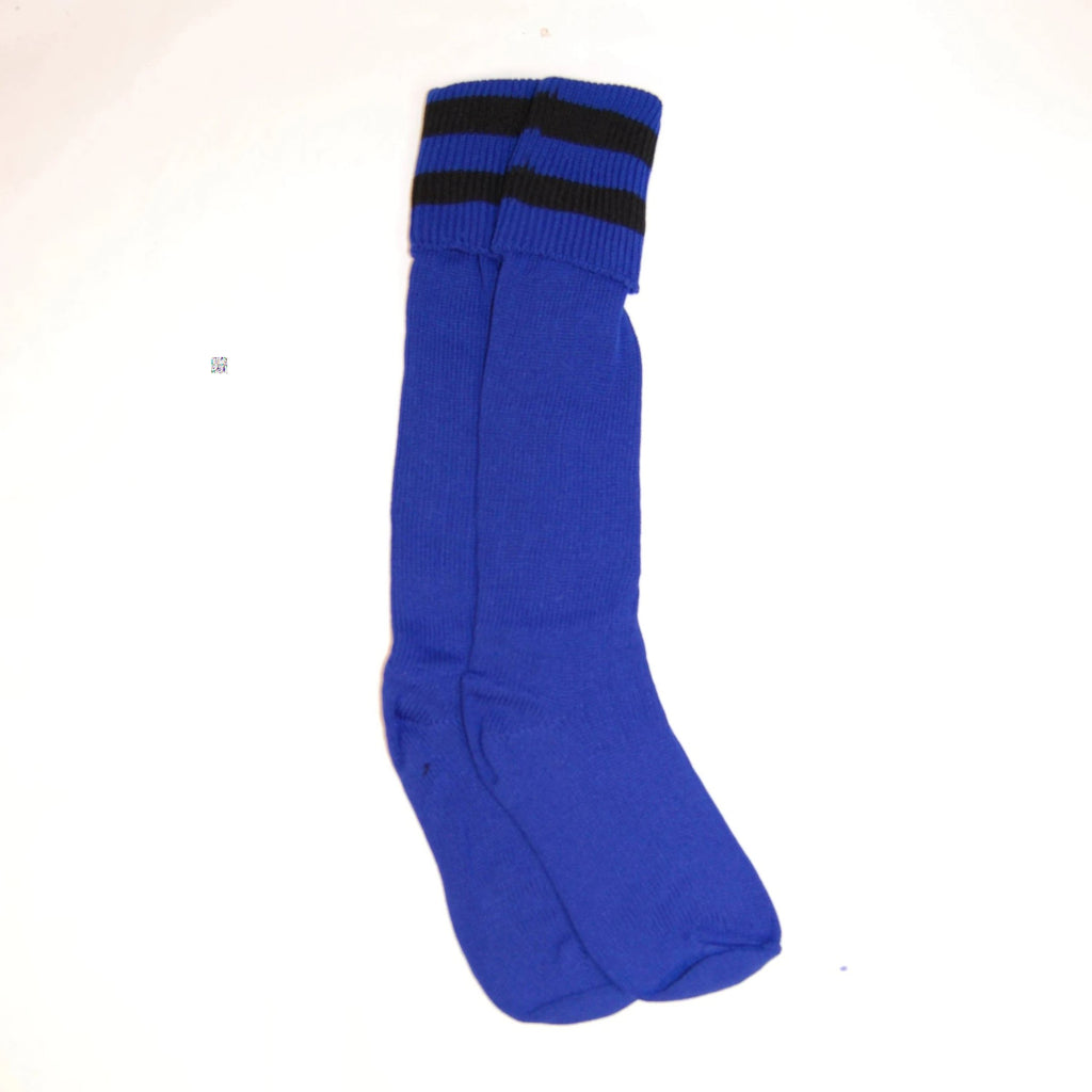 Royal Football Sock (2 Black Bars) CLEARANCE ITEM