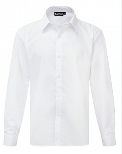 White Long Sleeved Shirt (Twin Pack) SLIM FIT
