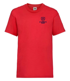 St Antony's Red  P.E.  T-Shirt