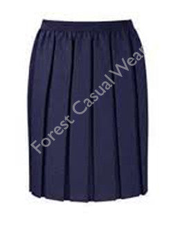 Box Pleat Skirt with Elasticated Waist (Longer Length)