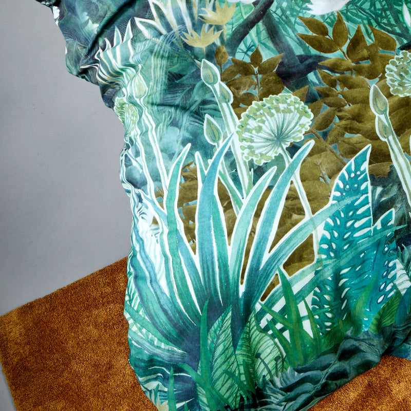 madagascar rainforest print quilt cover set