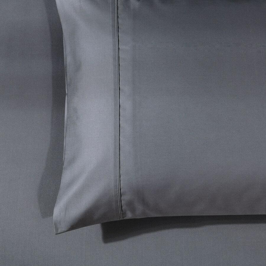luxury 1000TC King pillowcase - charcoal grey