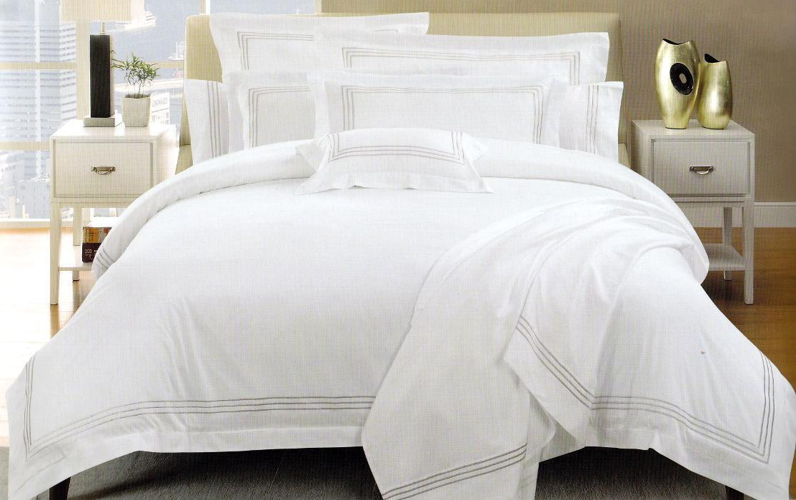 Hotel 1000tc White Cotton Sateen Quilt Duvet Cover Set With Linen Em My Linen Corner