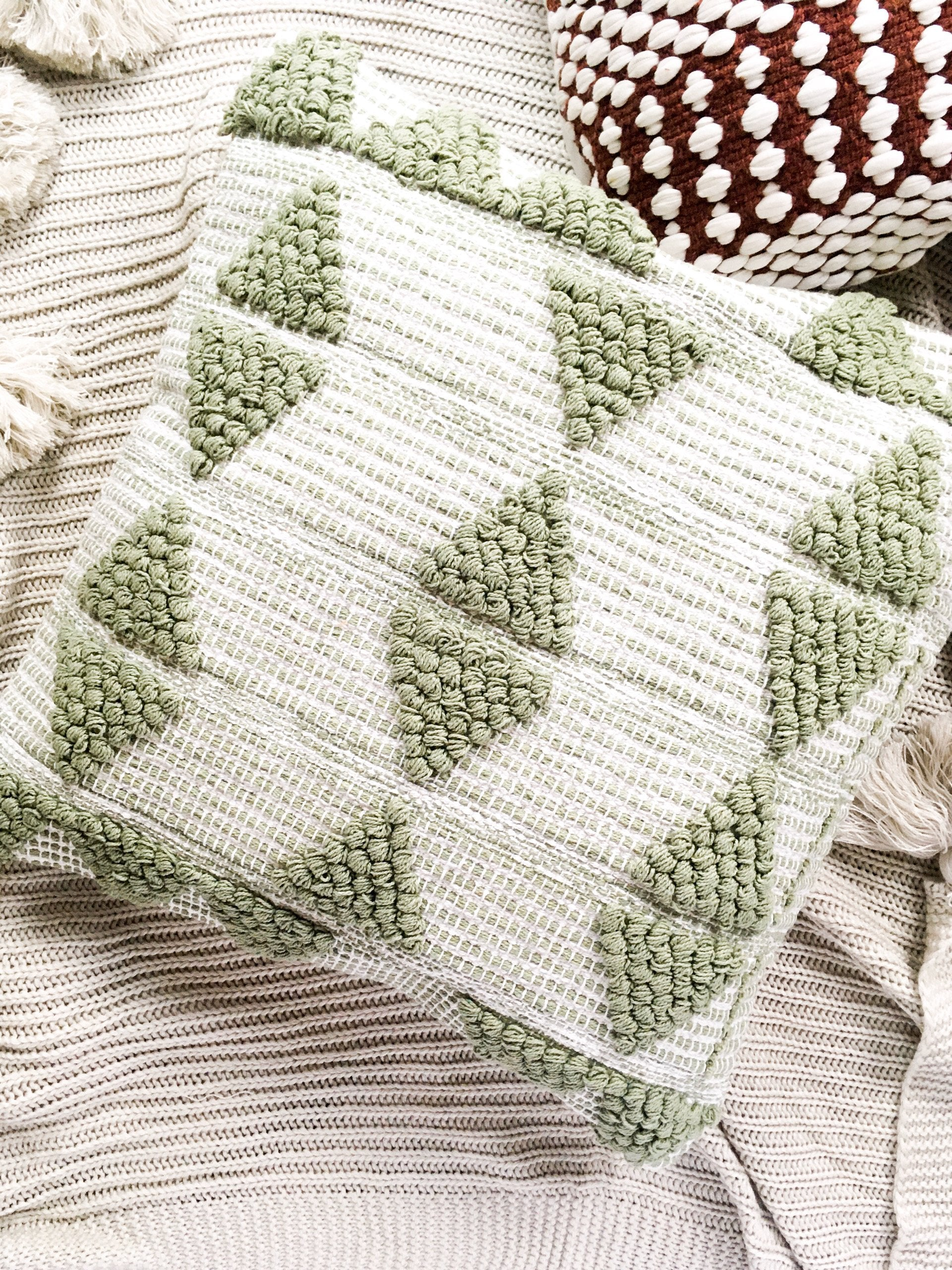 Aden Texture Cushion Cover - Green