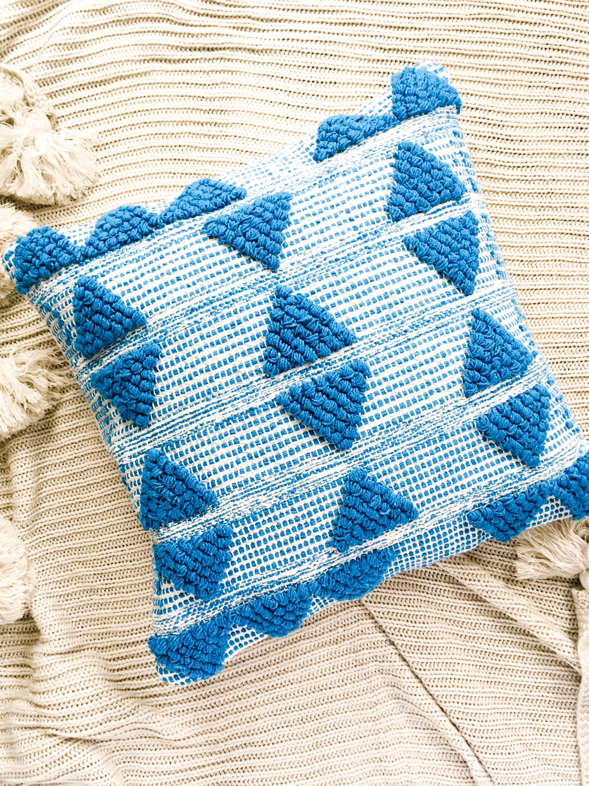 Aden Texture Cushion Cover - Turquoise