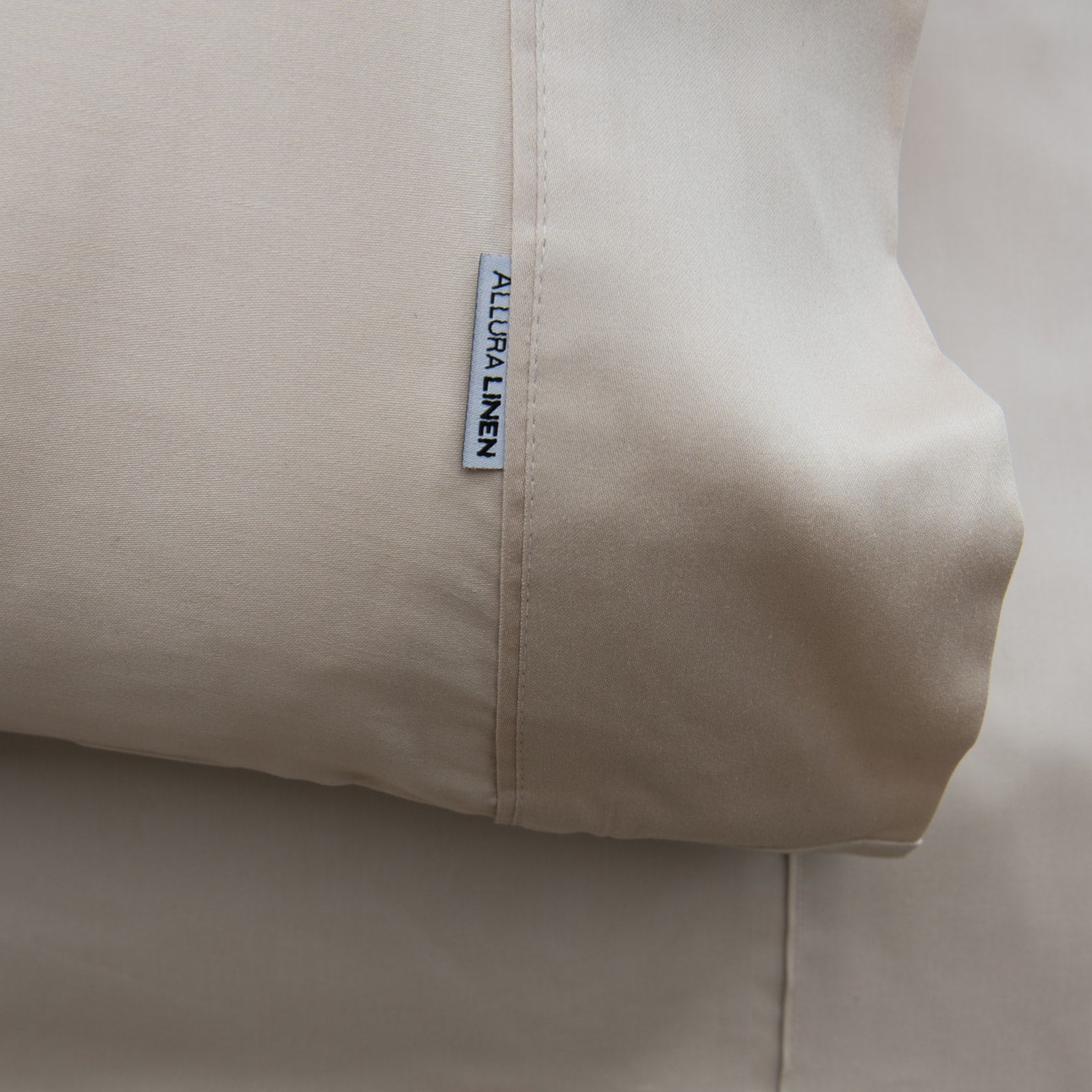 400 thread count, 100% cotton, sateen finish standard pillowcase PC, linen