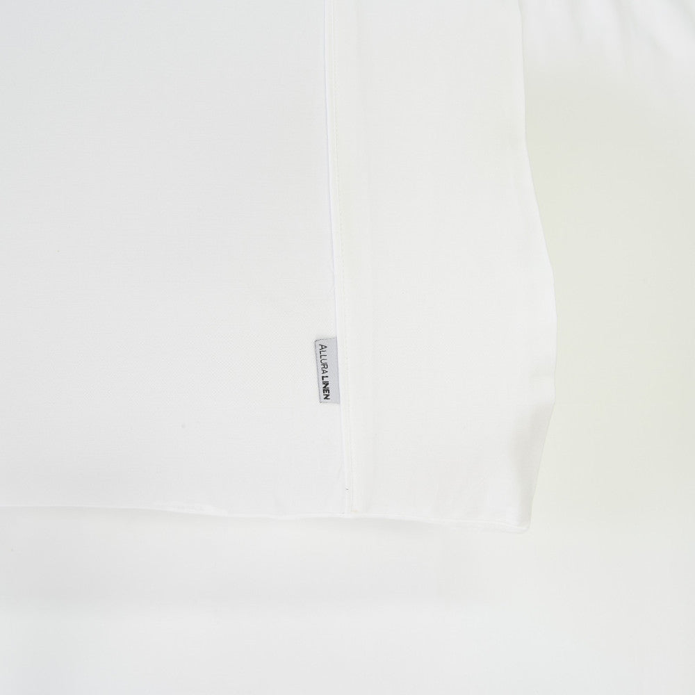 400 thread count, 100% cotton, sateen finish white sheets, fitted sheet