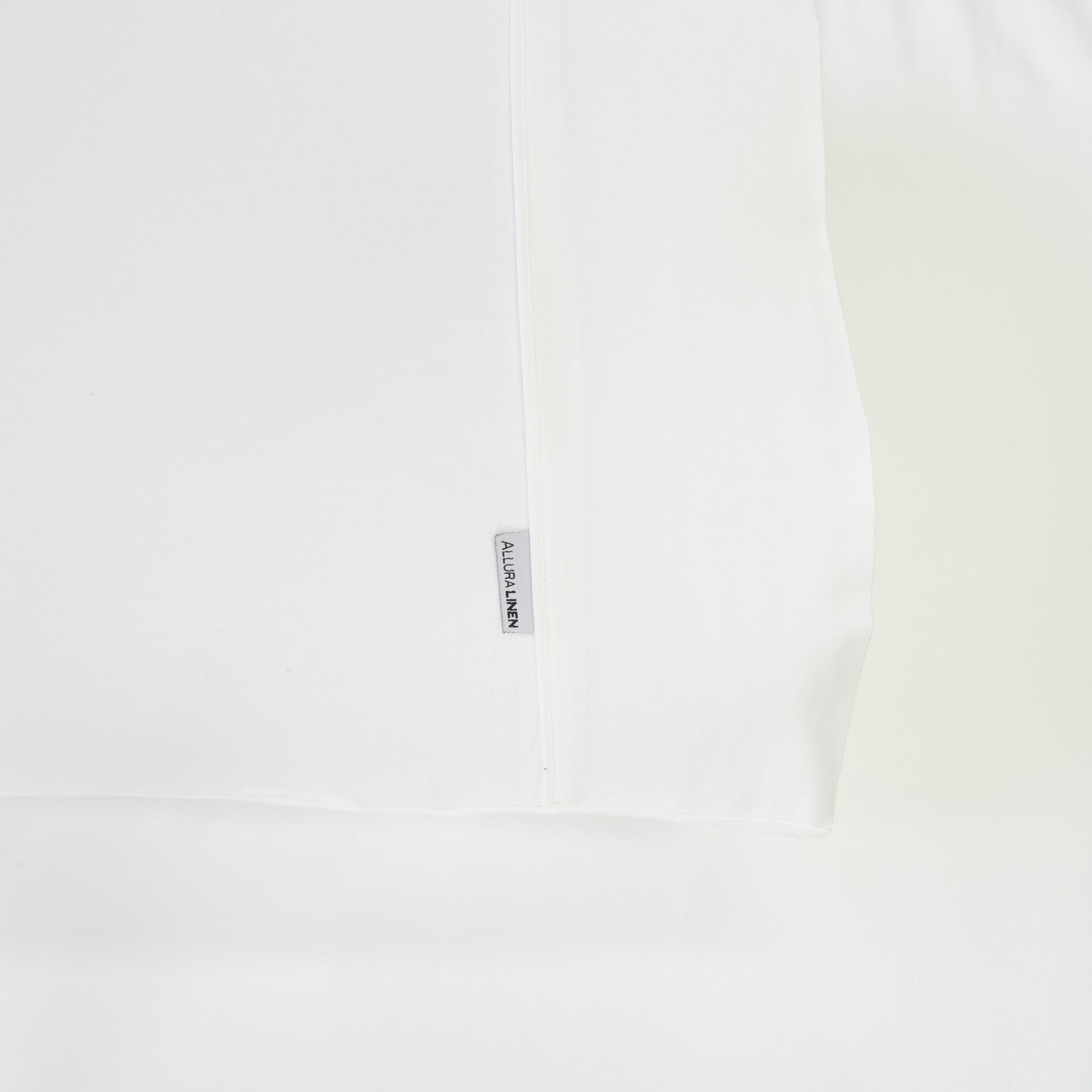 400 thread count, 100% cotton, sateen finish standard pillowcase PC, white